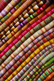 Colorful Textiles. Photographed at the markets in Lima/Peru Royalty Free Stock Images