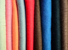 Colorful textiles background Stock Images