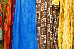 Colorful textiles from Morocco Royalty Free Stock Images