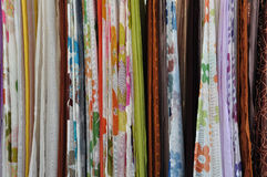 Colorful textiles Stock Photo