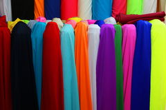 Colorful textiles scrolls Stock Images