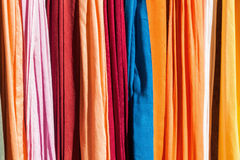 Colorful textiles Royalty Free Stock Image