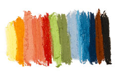 Colorful textture pastel sticks Royalty Free Stock Image