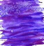 Colorful texture background hand drawn in watercolors of bright purple with blue stripes you can see brush strokes that go beyond