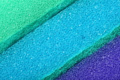 Colorful texture cellulose foam sponge background Stock Images