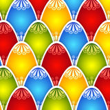 Colorful texture of eggs for Easter holiday Stock Photo