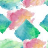 Colorful texture illustration pattern in a watercolor style. Aquarelle paper splash shapes isolated drawing. Abstract aquarelle for background, texture stock illustration