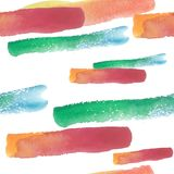 Colorful texture illustration pattern in a watercolor style. Aquarelle paper splash shapes isolated drawing. Abstract aquarelle for background, texture royalty free illustration
