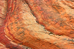 Colorful texture of Navajo sandstone Royalty Free Stock Photos