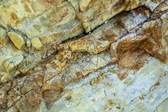 Igneous rock lava closeup. Stock Photo