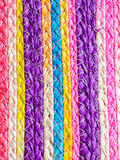 Colorful texture of weave reed handcraft Royalty Free Stock Image