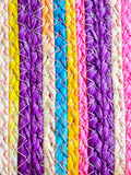 Colorful texture of weave reed handcraft Stock Photos