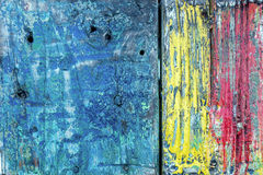 Colorful texture on wooden surface Royalty Free Stock Photo
