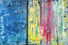 Colorful texture on wooden surface Stock Photography