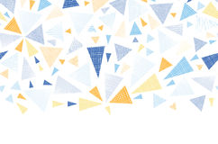 Colorful textured arrows triangles horizontal Stock Photography