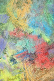 Colorful Textured Chalk Background Stock Image
