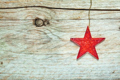 Colorful textured red Christmas star Royalty Free Stock Image
