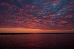 Colorful textured sunrise over the Chesapeake Bay. Colorful sunrise at Havre de Grace, MD Stock Photos