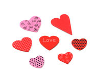 Colorful textured Valentines Day heart-shaped Royalty Free Stock Photo