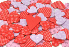 Colorful textured Valentines Day heart-shaped Royalty Free Stock Photography