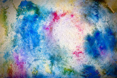 Colorful Textured Watercolor Background. Digital watercolor artwork with grunge texture Royalty Free Stock Images