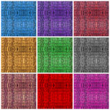 Colorful textures of rattan wood Stock Image