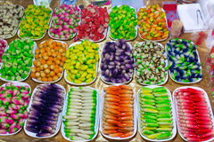 Colorful Thai candies Stock Images