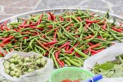Colorful Thai Chili, in the market Uthaithani Thailand. Colorful Thai Chili, Uthaithani Thailand Royalty Free Stock Photo