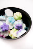 Colorful Thai dessert,colorful thai jelly Stock Image