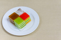 Colorful of Thai dessert crispy jelly Stock Images