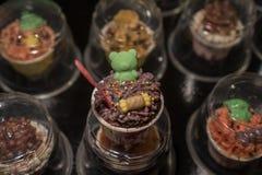 Colorful thai dessert cupcakes Stock Photos