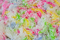 Colorful Thai dessert for rituals and eating. Royalty Free Stock Photo