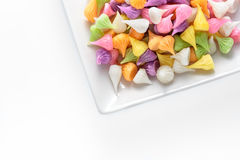 Colorful  thai dessert on white background. Stock Images
