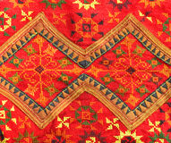 Colorful Thai fabric pattern. Stock Photography