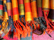 Colorful Thai handicraft fabrics Stock Images