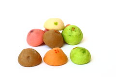 Colorful of Thai mochi Royalty Free Stock Image