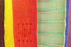 Colorful thai native fabric in chiangmai Stock Images