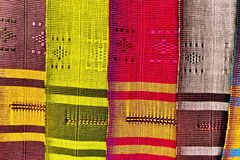 Colorful Thai Native Fabric In Chiangmai Royalty Free Stock Image