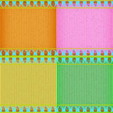 Colorful Thai new style card board texture Royalty Free Stock Images