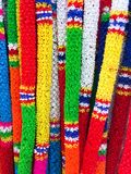 Colorful Thai plastic garland. Can be found at any Buddhist Temple Stock Images