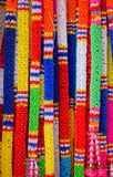 Colorful Thai plastic garland Royalty Free Stock Image