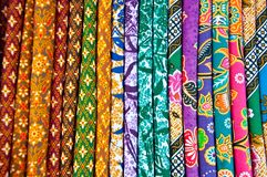 A colorful of thai silk fabric Stock Photography