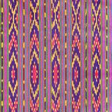 Colorful Thai silk fabric texture Stock Images