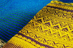 Colorful thai silk handcraft peruvian style Royalty Free Stock Images