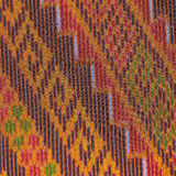 Colorful thai silk handcraft peruvian style rug surface close up More this motif & more textiles peruvian stripe beautiful backgro Royalty Free Stock Photo