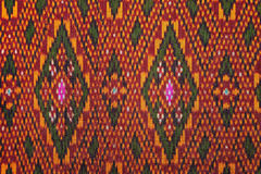 Colorful thai silk handcraft peruvian style rug surface close up More this motif & more textiles peruvian stripe beautiful backgro Stock Images
