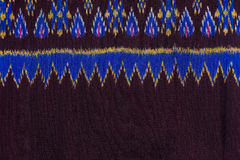 Colorful thai silk handcraft peruvian style rug surface close up More this motif & more textiles peruvian stripe beautiful backgro Royalty Free Stock Images