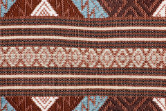 Colorful thai silk handcraft peruvian style rug surface close up More this motif & more textiles peruvian stripe beautiful backgro Stock Image