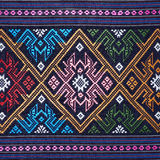Colorful thai silk handcraft peruvian style rug surface close up More this motif & more textiles peruvian stripe beautiful backgro Stock Photos