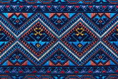 Colorful thai silk handcraft peruvian style rug surface close up More this motif & more textiles peruvian stripe beautiful backgro Royalty Free Stock Image